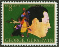 1484 8c Gershwin F-VF Mint NH Plate Block of 12 1484pb