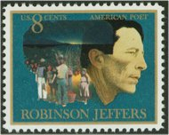 1485 8c Robinson Jeffers F-VF Mint NH 1485nh