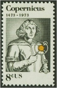 1488 8c Copernicus F-VF Mint NH Plate Block of 4 1488pb