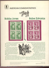1932-33 18c Jones/Zahairias USPS Cat. 149 Commemorative Panel cp149