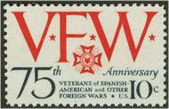 1525 10c Veterans of Foreign Wars F-VF Mint NH 1525nh
