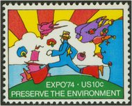 1527 10c Expo '74 F-VF Mint NH 1527nh