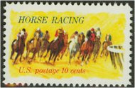 1528 10c Horse Racing F-VF Mint NH 1528nh