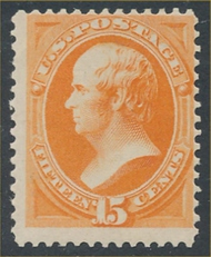 152 15c Webster, bright orange, without grill, Unused Minor Defects 152ogmd