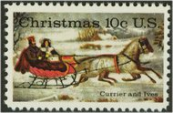 1551 10c Christmas Sled F-VF Mint NH 1551nh