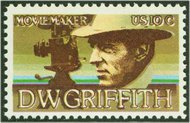 1555 10c D. W. Griffith F-VF Mint NH 155nh