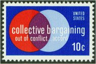 1558 10c Collective Bargaining F-VF Mint NH 1558nh