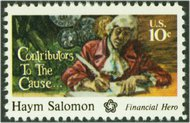 1561 10c Haym Solomon F-VF Mint NH 1561nh