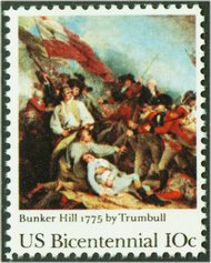 1564 10c Bunker Hill F-VF Mint NH 1564nh