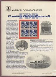 1950 20c F. D. Roosevelt USPS Cat. 157  Commemorative Panel cp157