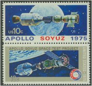1569-70 10c Apollo-Soyuz 2 Singles F-VF Mint NH 1569sing