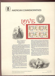 1951 20c Love USPS Cat. 158 Commemorative Panel cp158
