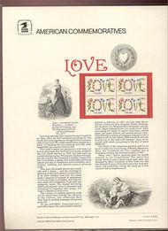 1951 20c Love USPS Cat. 158 Commemorative Panel cp158