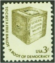 1584 3c Ballot Box F-VF Mint NH 1584nh