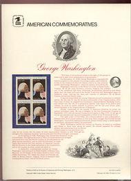 1952 20c G. Washington  USPS Cat. 159  Commemorative Panel cp159