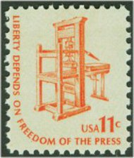 1593 11c Printing Press F-VF Mint NH 1593nh