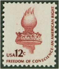 1594 12c Freedom of Conscience F-VF Mint NH 1594nh