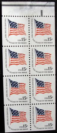 1598a 15c McHenry Flag F-VF Mint NH Booklet Pane of 8 1598a