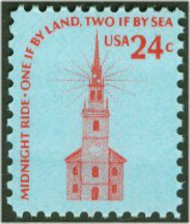 1603 24c Old North Church F-VF Mint NH 1603nh