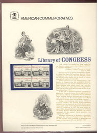 2004 20c Library of Congress USPS Cat. 162  Commemorative Panel cp162