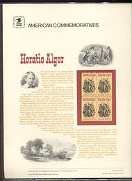 2010 20c Horatio Alger USPS Cat. 164 Commemorative Panel cp164