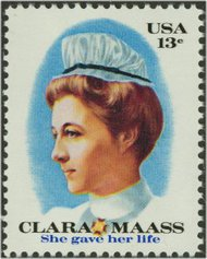 1699 13c Clara Maass F-VF Mint NH 1699nh