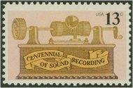 1705 13c Sound Recording 13c Princeton F-VF Mint NH Plate Block  1705pb