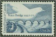 1721 13c Peace Bridge F-VF Mint NH 1721nh