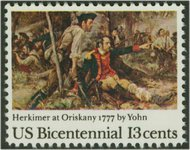 1722 13c Herkimer at Oriskany F-VF Mint NH 1722nh