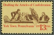 1726 13c Articles of Confederation F-VF Mint NH Plate Block of 4 1726pb