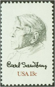 1731 13c Carl Sandburg F-VF Mint NH 1731nh