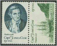 1732-3 13c Capt Cook, Attached F-VF Mint NH Plate Block of 20 1732apb