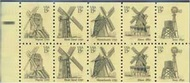 1742a 15c Windmill, Booklet Pane of 10 F-VF Mint NH 1742anh