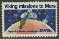 1759 15c Viking Mission F-VF Mint NH 1759nh