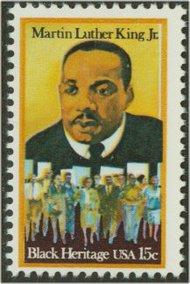 1771 15c Martin Luther King Jr. F-VF Mint NH Plate Block of 12 1771pb