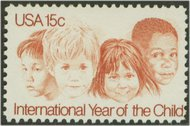 1772 15c Year of the Child F-VF Mint NH 1772nh