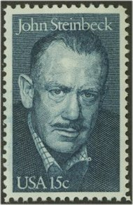 1773 15c John Steinbeck F-VF Mint NH Plate Block of 4 1773pb