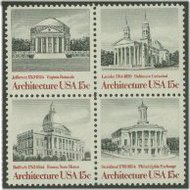 1779-82 15c Architecture 4 Singles F-VF Mint NH 1779sing