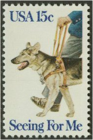 1787 15c Seeing Eye Dog F-VF Mint NH 1787nh