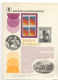 2031 20c Science & Industry USPS Cat. 179 Commemorative Panel cp179