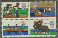 1791-4 15c Summer Olympics Attached block of 4 F-VF Mint NH 1791nh