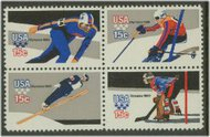 1795-8 15c Winter Olympics 4 Singles F-VF Mint NH 1795sing