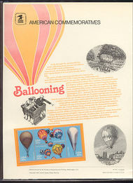 2032-35 20c Balloons USPS Cat. 181 Commemorative Panel cp181