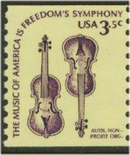 1813 3.5c Violins, Coil F-VF Mint NH 1813nh