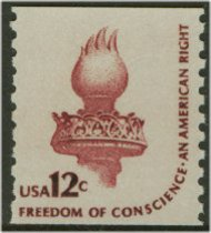 1816 12c Conscience, Coil F-VF Mint NH Line Pair 1816lp