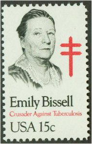 1823 15c Emily Bissell F-VF Mint NH Plate Block of 4 1823pb