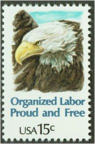 1831 15c Organized Labor F-VF Mint NH 1831nh