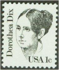1844 1c Dorothea Dix F-VF Mint NH 1844nh