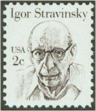 1845 2c Igor Stravinsky F-VF Mint NH 1845nh