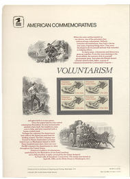 2039 20c Voluntarism USPS Cat. 185 Commemorative Panel cp185